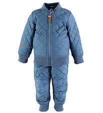 CeLaVi Thermo Set w. Fleece - Coated - Blue