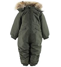 Ver de Terre Snowsuit w. Fur - Army Green