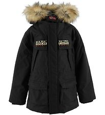 Napapijri Winter Coat - Skidoo Open Long - Black