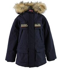 Napapijri Winter Coat - Skidoo Open Anorak - Black