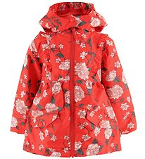 Hust and Claire Jacket - Ona - Red w. Flowers