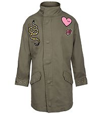 Petit by Sofie Schnoor Lightweight Jacket - Army Green w. Patche