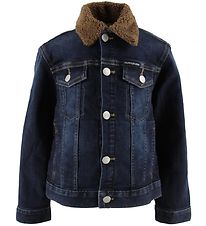 Calvin Klein Denim Jacket - Blue Denim/Brown Teddy