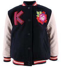 Kenzo Jacket - Giana - Navy/Rose w. Snake/ Embroideries