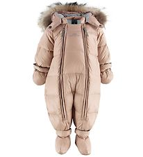 Ver de Terre Down Snowsuit w. Fur - Mahogany Rose