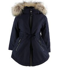 Ver de Terre Winter Coat w. Fur - Navy