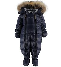 Ver de Terre Down Snowsuit w. Fur - Navy