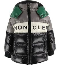 Moncler Down Jacket - Febrege - Grey/Black w. Green