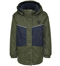 Hummel Winter Coat - HMLConrad - Army/Navy w. Angles
