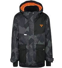 Hummel Winter Coat - HMLTravis - Navy/Army Camoflage