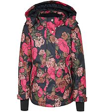 Hummel Winter Coat - HMLRose - Navy w. Flowers