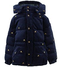 Polo Ralph Lauren Down Jacket - Corduroy - Navy/Skulls