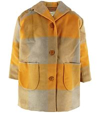 Soft Gallery Coat - Wool/Polyester - Eveleen - Golden Check