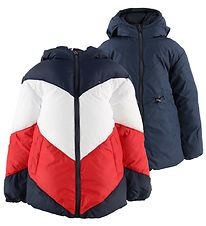 Tommy Hilfiger Padded Jacket - Reversible - Navy/Red/White