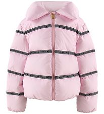 Versace Down Jacket - Rose w. Logo Stripes