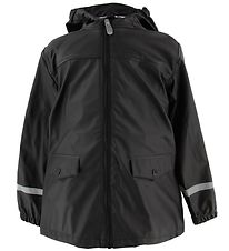 Color Kids Rain Jacket - Eldon - PU - Black