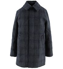 Hound Winter Coat - Grey/Blue Checks