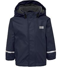 Lego Wear Rain Jacket w. Fleece - PU - Julian - Navy