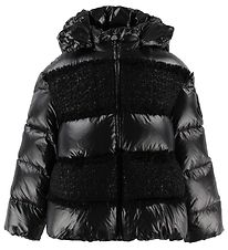 Moncler Down Jacket - Elbe - Black w. Knit