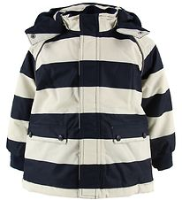 Hust and Claire Winter Coat - Olav - Navy/White Stripes