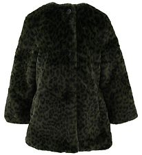Zadig & Voltaire Coat - Fake Fur - Army Green w. Leopard
