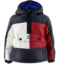 Tommy Hilfiger Down Jacket - Anorak - Red/White/Navy w. Logo