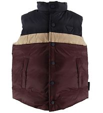 Emporio Armani Down Gilet - Bordeaux/Navy w. Stripe