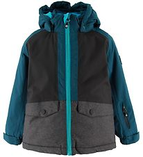 Color Kids Winter Coat - Dude - Pirate Blue w. Petrol