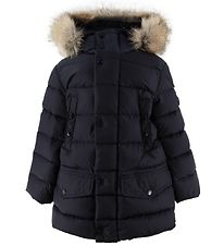 Moncler Down Jacket - Montliard - Navy w. Fur