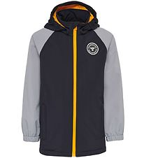 Hummel Softshell Jacket - Frederik - Black/Grey/Orange