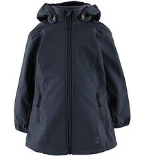 Mikk-Line Softshell Jacket w. Fleece -  Blue Nights