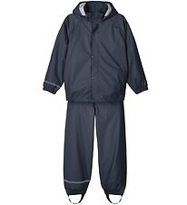 Name It Rainwear w. Suspenders - Noos - Dark Sapphire