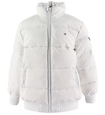 Tommy Hilfiger Down Jacket - U Reflective Flag - White