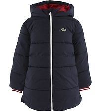 Lacoste Padded Jacket - Blouson - Navy/Red