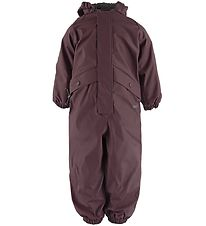 Wheat Rainsuit w. Thermo - PU - Aiko - Eggplant