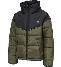 Hummel Padded Jacket - HMLVibrant - Black/Army Green