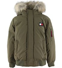 Tommy Hilfiger Padded Jacket - Tech Bomber - Army Green