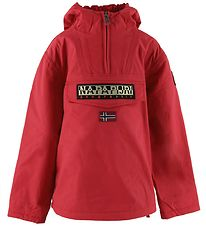 Napapijri Winter Coat - Rainforest - Red Tango