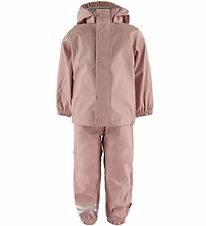 Mikk-Line Rainwear w. Suspenders - PU - Adobe Rose
