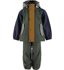 Liewood Rainwear - Parker - Hunter Green Multi Mix