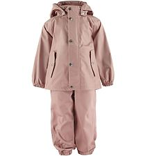 Liewood Rainwear w. Suspenders - Dakota - Dark Rose