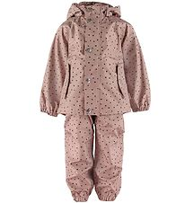 Liewood Rainwear w. Suspenders - Dakota - Confetti Rose
