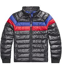 Polo Ralph Lauren Padded Jacket - Black w. Red/Blue