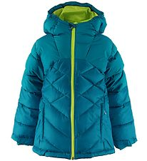 Columbia Padded Jacket - Winter Powder - Turquoise/Lime