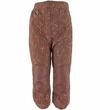 byLindgren Thermo Trousers - Sigrid - Nutmeg w. Flowers