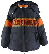 Dolce & Gabbana Down Jacket - Navy w. Orange