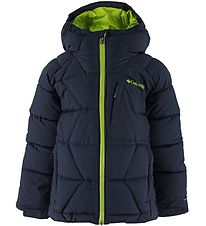 Columbia Padded Jacket - Winter Powder - Navy/Lime