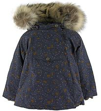 Mini A Ture Winter Coat - Wang Fur - Blue Nights