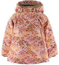 Mini A Ture Winter Coat - Wang Fur - Pale Mauve w. Flowers