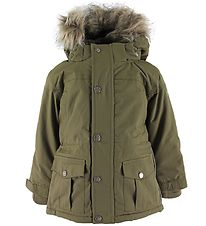 En Fant Winter Coat - Martini Olive w. Fur